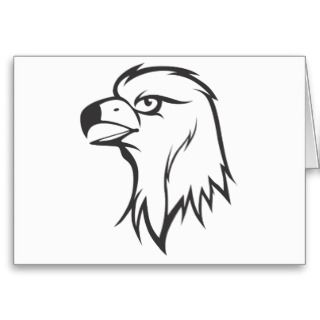 Golden Eagle Bird in Black and White Greeting Cards