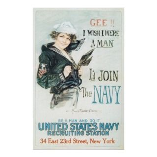 Vintage Famous Girl In Sailors Uniform Poster Art