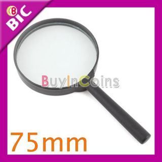 Reading 5X Magnifier Hand Held Magnifying Glass 1# 75mm
