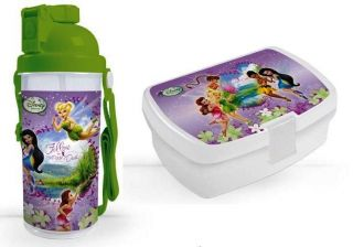 Fairies TinkerBell Lunchbox Brotdose + Trinkflasche
