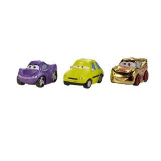 Disney Pixar Cars Micro Drifters Vehicles   Gold McQueen / Holley