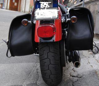 leder satteltasche für Harley Davidson Sportster mit Carving FÜR
