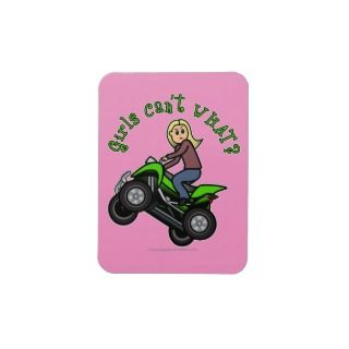 blonde woman atv four wheeler driver party plate see on 147 products