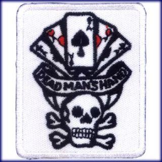 AUFNÄHER PATCH AUFBÜGLER SKULL POKER DEAD MANS HAND GAMBLING CASINO