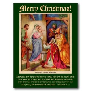 Wise Men Christmas Card, with Bible Verse Postcards
