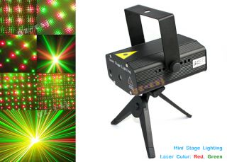 Animated Moving Stars LED Projector Lamp with Green Red Laser Stage