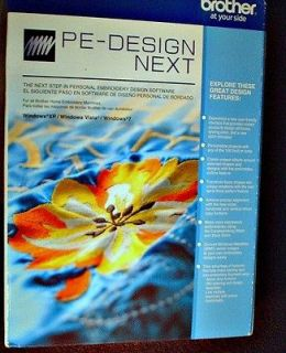 Brother PE Design NEXT Embroidery Software COMPLETE Digitizing PLUS