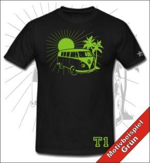 VW BULLI T1 T2 T Shirt Retro Kult Bus Oldtimer Hippie