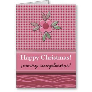 Christmas Happy Birthday Felize Cumpleaños Joke Greeting Cards