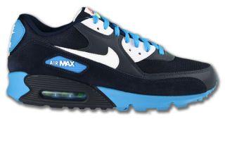 Nike Air Max 90 Schwarz/Blau/Weiss Neu Größen wählbar