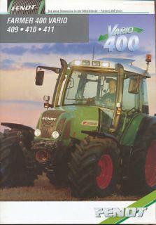 Fendt Farmer 409 410 411 Trecker Prospekt 12/99 brochur