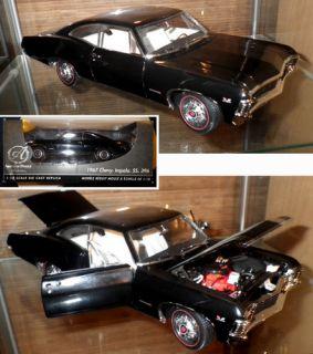 18 Authentics   SUPERNATURAL 1967 Chevy Impala SS 396 Black