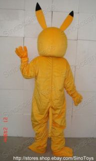 Pikachu Pokemon ADULT SIZE MASCOT COSTUME SUIT CLOTHING