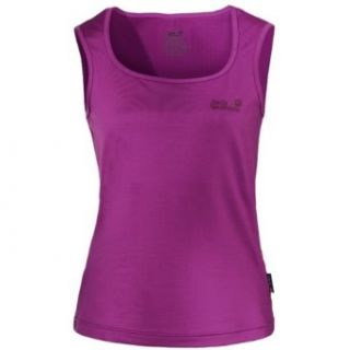 Jack Wolfskin Damen Funktions Top T Shirt Ärmellos Basic Top Lila Gr