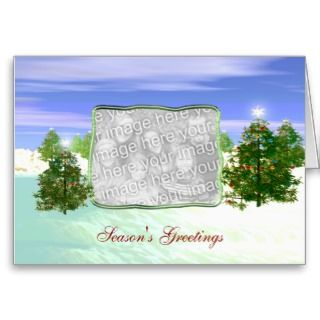 Holiday Seasonal Scene (photo frame) Greeting Card