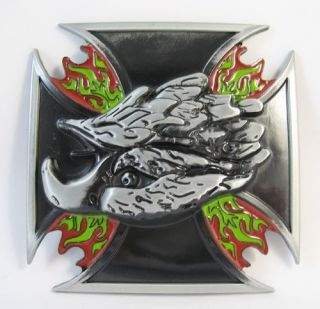Eagle Head handsome men Metal Belt Buckle New BK420