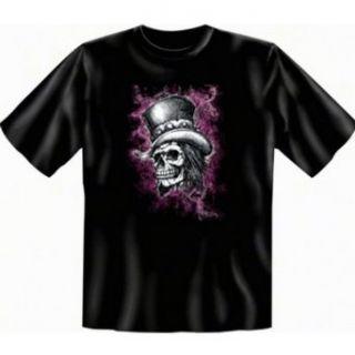Shirt mit Motiv   Totenkopf mit Zylinder   USA Shirt Skull Gothic