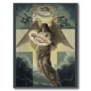 Deliver of the Christ Child by the Angel Gabriel Postcards