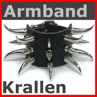 Nieten Armband KRALLEN 32mm 3 R / Gothic Punk Armband