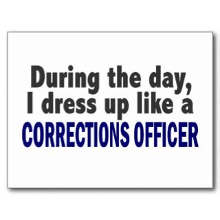 Corrections Officer During The Day Post Card
