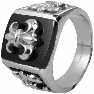 Männerring aus Edelstahl Herren Siegelring Männer Ring 66mm  426