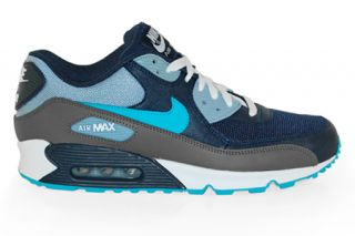 Nike Air Max 90 Obsidian Turquoise Blue Grey White 325018 415