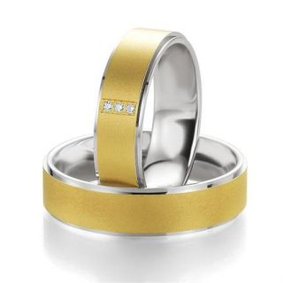 CORE Trauringe Eheringe Bicolor aus 585 Gold/Silber inkl. Gravur