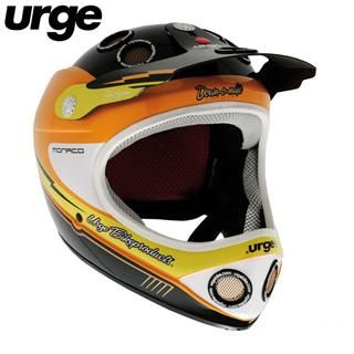 URGE Down O Matic MONACO Orange Mountain Bike Fullface Helmet Fahrrad