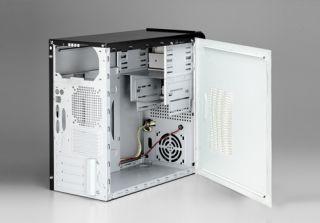PC Mini Gehäuse leer Micro ATX Tower 2x Front USB + Audio ohne