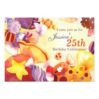 Sweet Candies  Birthday Party Invitation by daphne1024