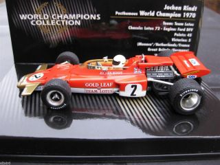 MINICHAMPS 143 LOTUS 72 J.RINDT WORLD CHAMPION (436 700005)