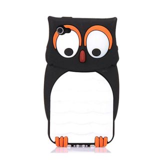 New Cute Owl Design Silicone Back Case Cover Skin for Apple iPhone 4