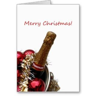 merry x mas card champagne