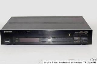 Pioneer F 443 FM/AM Digital Synthesizer Tuner TOP