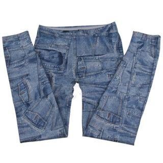Jeans Stretch Treggings Leggings Jeggings Damen Sexy Tasche