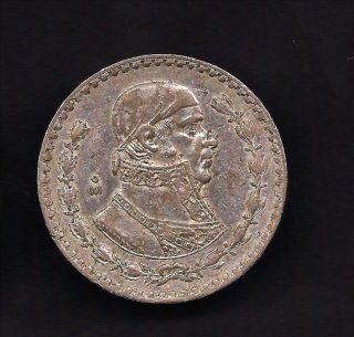World Coins   Mexico 1 Peso 1960 Silver Coin KM# 459