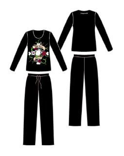 tcm damen satin pyjama schlafanzug hausanzug. Black Bedroom Furniture Sets. Home Design Ideas