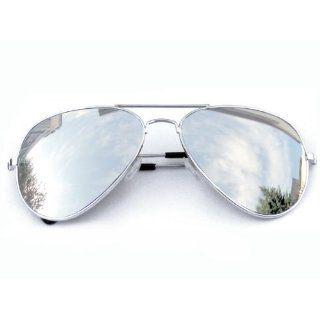 Tedd Haze Pilotenbrille Silber verspiegelt mit Brillen Beutel