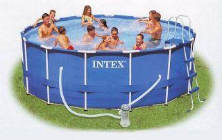INTEX Metal Frame Pool Set 457 x 122 cm Schwimmbecken