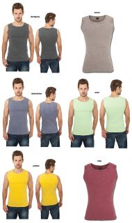 URBAN CLASSICS FADED TANKTOP T SHIRT HERREN TOP SHIRT LADIES 6 FARBEN