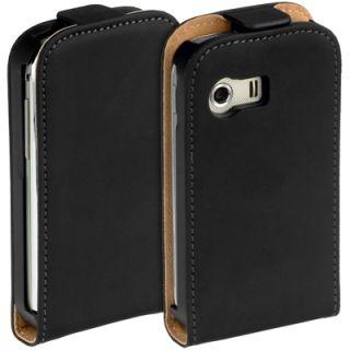 Premium Leder Flip Style Case f Samsung Galaxy Y S5360 Etui Hülle