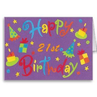 Happy 21st Birthday Card Party