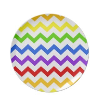 chevron zigzag kawaii cute zig zag pattern party plate
