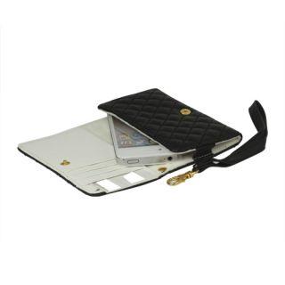 4S Portmonee Portemonnaie Leder Tasche Hülle Wallet Case Schwarz 473