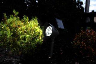 LED Solar Gartenstrahler schwarz Spot Strahler 3 LEDs Neu OVP