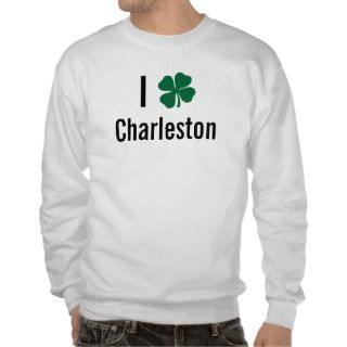 love (shamrock) Charleston St Patricks Day Pullover Sweatshirts