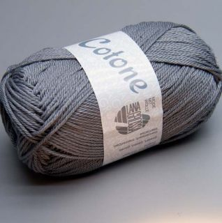 Lana Grossa Cotone 019 steel gray 50g Wolle