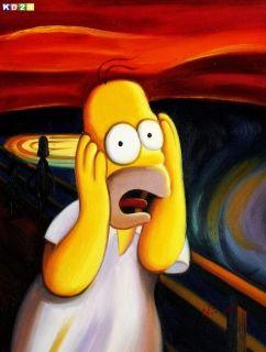 Modern Popart Homer feat Munch   Der Schrei a80026 30x40 CM