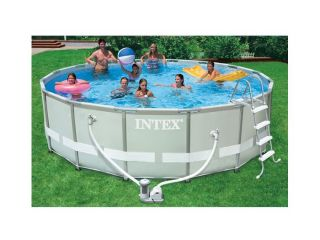 ULTRA FRAME SWIMMING POOL 488x122 KOMPLETTSET SCHWIMMBAD 54452 INTEX