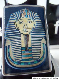 Original ZIPPO FEUERZEUG EGYPTIAN KING Ägypten chrome brushed NEU